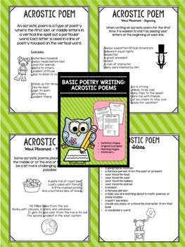 Acrostic Poetry - Defining & Writing
