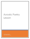 Acrostic Poetry Lesson for the Year
