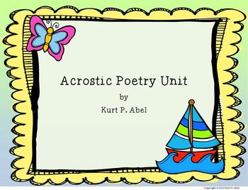 Acrostic Poetry Unit