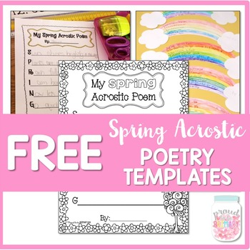 Acrostic Poetry Writing Templates