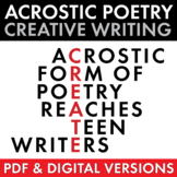 Acrostic Poetry for Teens, High School and Adv. Middle School Poetry Lesson