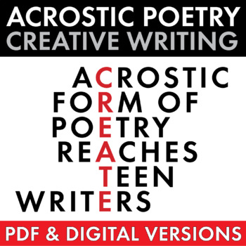 Acrostic Poetry for Teens, ... by Laura Randazzo | Teachers Pay ...