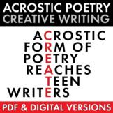 Acrostic Poetry for Teens, Creative Writing, Poetry Creati