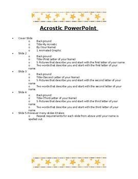 Acrostic Presentation