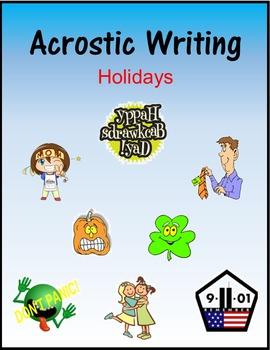 Acrostic Writing:  Holidays