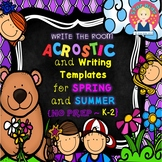 SPRING AND SUMMER WRITE THE ROOM ACROSTICS for Kindergarten and First Grade