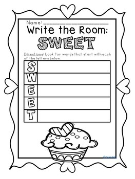 WINTER WRITE THE ROOM ACROSTICS for Kindergarten and First Grade
