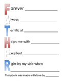 Acrostic Father Poem