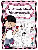 Acróstico de febrero *English and spanish*