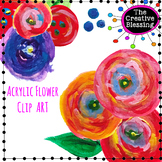 Acrylic / Watercolor Floral  Clipart