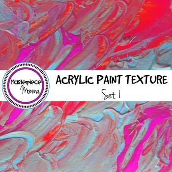 Digital Paper- Acrylic Paint Texture- Set 1