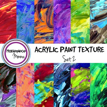 Digital Paper- Acrylic Paint Texture- Set 2