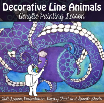 Acrylic Painting - Decorative Line Animals