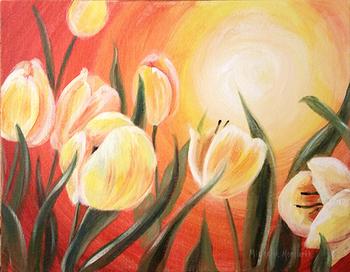 Acrylic Tulips
