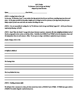 Act 1 Activity Packet for A Christmas Carol
