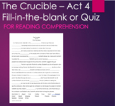 Act 4- The Crucible Fill-in-the-blank Summary Reading Acti