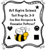 """Act Aspire Science Test Prep """"Can Bees Recognize and Remember Patterns?"""" Gr. 3-5"""