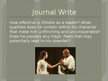 Act I Othello Lessons in PowerPoint Form (One Week)