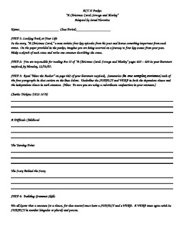 Act II Activity Packet for A Christmas Caro