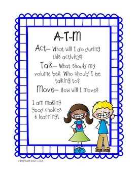 Act-Talk-Move (ATM) Classroom Expectations Posters | inspired by Jim Knight