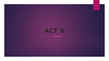 Act V Hamlet Powerpoint