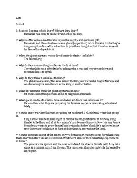 Act V Reading Guide for Hamlet