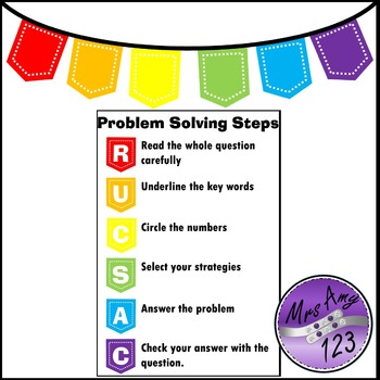 Act it Out! Problem Solving Task Cards, PowerPoint and Worksheet