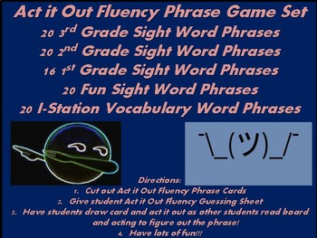 Act it Out Sight Word Phrases