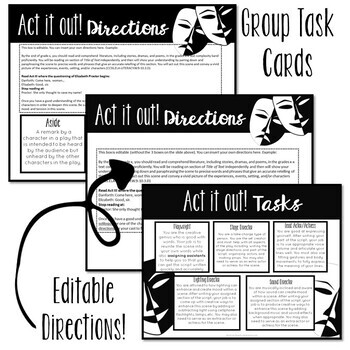 Act it out: Task cards and peer critique for ANY text, drama, and play