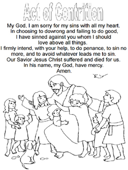image about Act of Contrition Prayer Printable identified as Act Of Contrition Fill Within Blank Worksheets Coaching