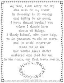 picture about Act of Contrition Prayer Printable titled Act of Contrition Prayer Pack