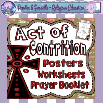 Act of Contrition ~ Sorry Prayer Posters, Worksheets and I