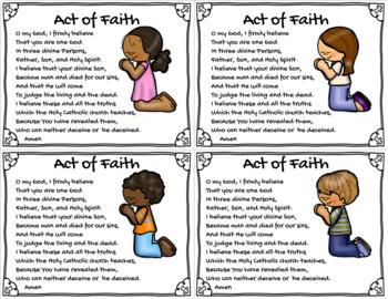 Act of Faith Prayer Card