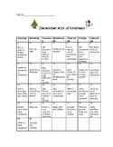 Act of Kindness Calendar