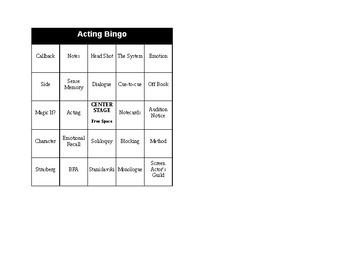 Acting Bingo