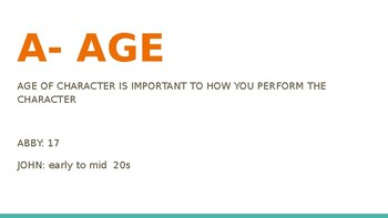 Acting: Knowing Objectives/Creating Basic Character
