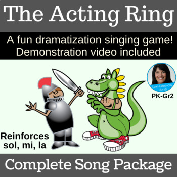"""Acting Singing Game   """"The Acting Ring"""" by Lisa Gillam   Complete Song Package"""