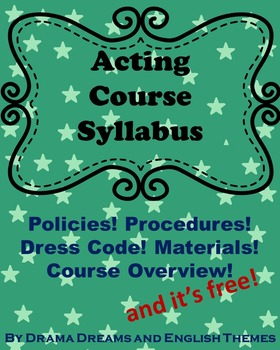 Acting Syllabus