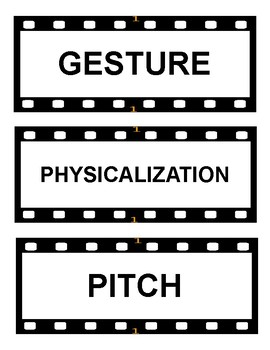 Acting Vocabulary