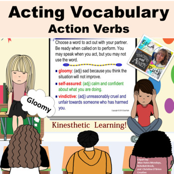 Action Verbs (Tier II) Acting Vocabulary PDF &  Google Slides