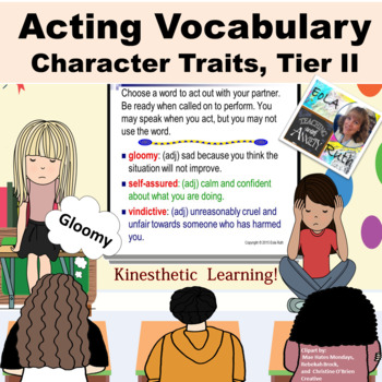 Character Traits (Tier II) Acting Vocabulary PDF or Google Slides