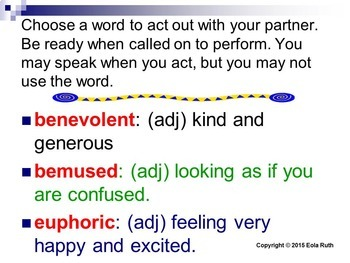 Tone and Mood Words (Tier II) Acting Vocabulary PDF or Google Slides