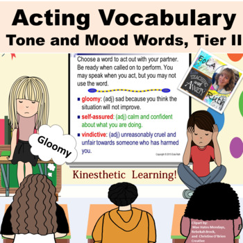 Tone and Mood Words (Tier II) Acting Vocabulary PDF or Goo