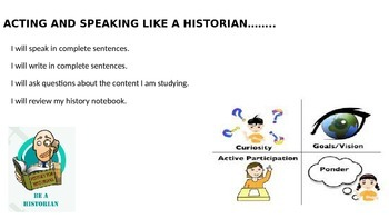 Acting and Speaking Like a Historian