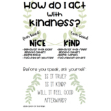 Acting in Kindness