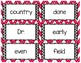 Action 100 1R Tricky Words Flash Cards IRLA