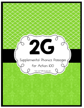 Action 100- 2 Green Phonics and Fluency Passages