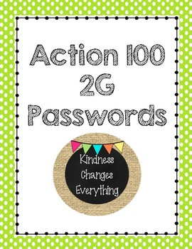 Action 100 2G Power Word Passwords