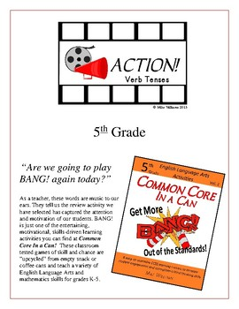 Action! 5th Grade Verb Tenses Game Packet