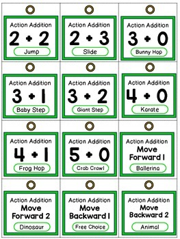 Action Addition - K.OA.A.5 - FREEBIE - Adding within 5